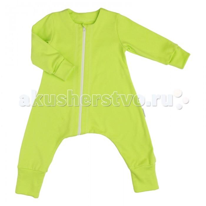 Пижамы и ночные сорочки Bambinizon Пижама на молнии Зеленое яблоко пижамы и ночные сорочки nannette пижама для малышей 26 1785