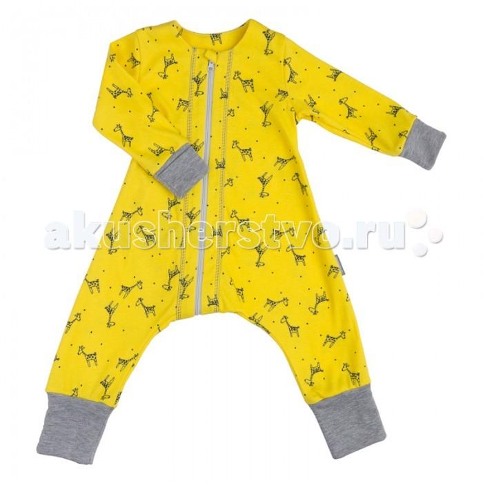 Пижамы и ночные сорочки Bambinizon Пижама на молнии Жирафы пижамы и ночные сорочки bambinizon пижама комбинезон на кнопках сафари