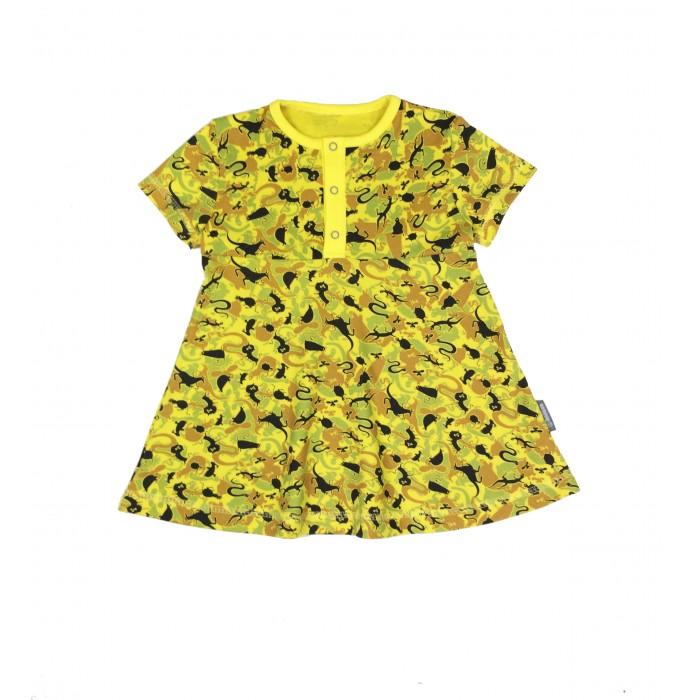 Детские платья и сарафаны Bambinizon Платье на кнопках с коротким рукавом crockid с коротким рукавом для девочки
