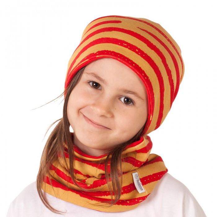 Варежки, перчатки и шарфы Bambinizon Шарф-снуд Бордовая полоска варежки  перчатки и шарфы jollein шарф confetti knit