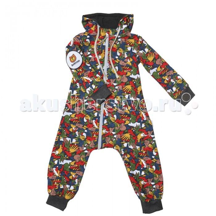 Детская одежда , Комбинезоны и полукомбинезоны Bambinizon Комбинезон из футера с начёсом на молнии Граффити арт: 326039 -  Комбинезоны и полукомбинезоны