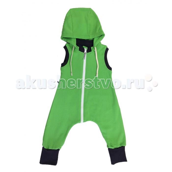 Детская одежда , Комбинезоны и полукомбинезоны Bambinizon Комбинезон из тонкого футера без рукавов арт: 326529 -  Комбинезоны и полукомбинезоны