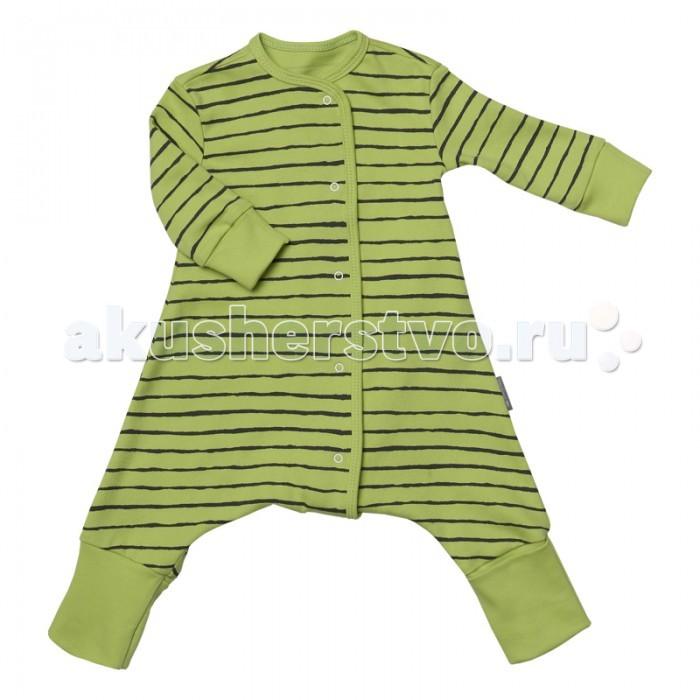 Пижамы и ночные сорочки Bambinizon Пижама-комбинезон на кнопках Тонкая полоска пижамы и ночные сорочки bambinizon пижама комбинезон на кнопках сафари