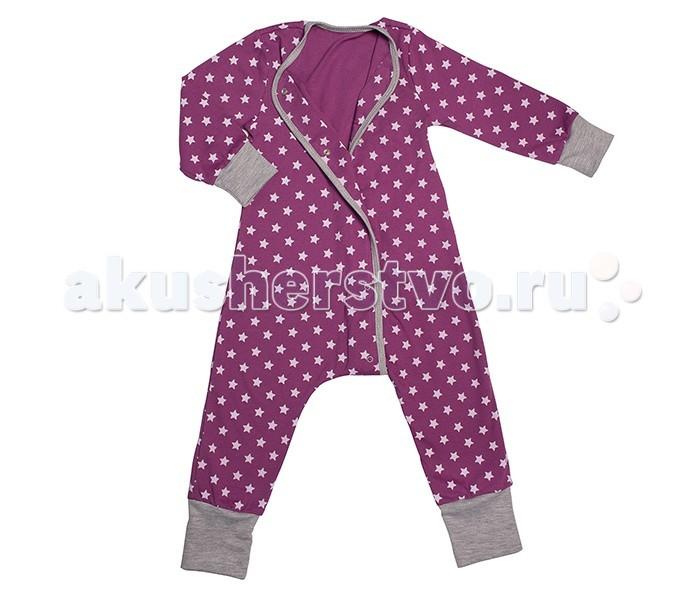 Детская одежда , Пижамы и ночные сорочки Bambinizon Пижама-комбинезон на кнопках Звездное небо арт: 289492 -  Пижамы и ночные сорочки