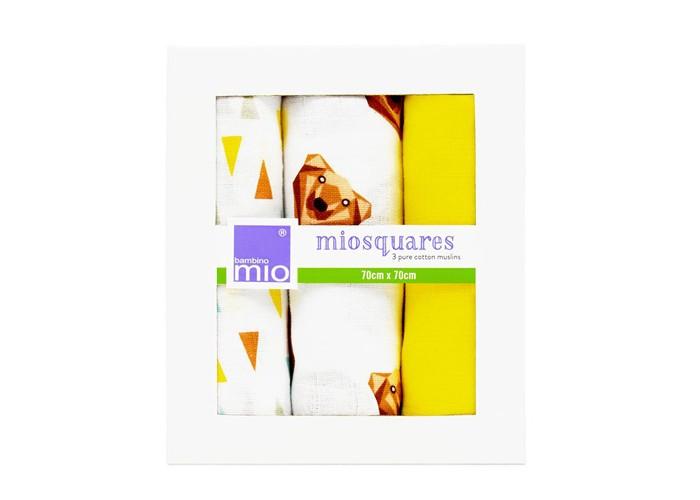 Текстильные салфетки Bambino Mio Хлопковые салфетки Муслин 3 шт. camp bambino