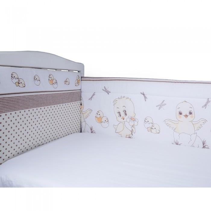 Бортики в кроватку BamBola Цыплята