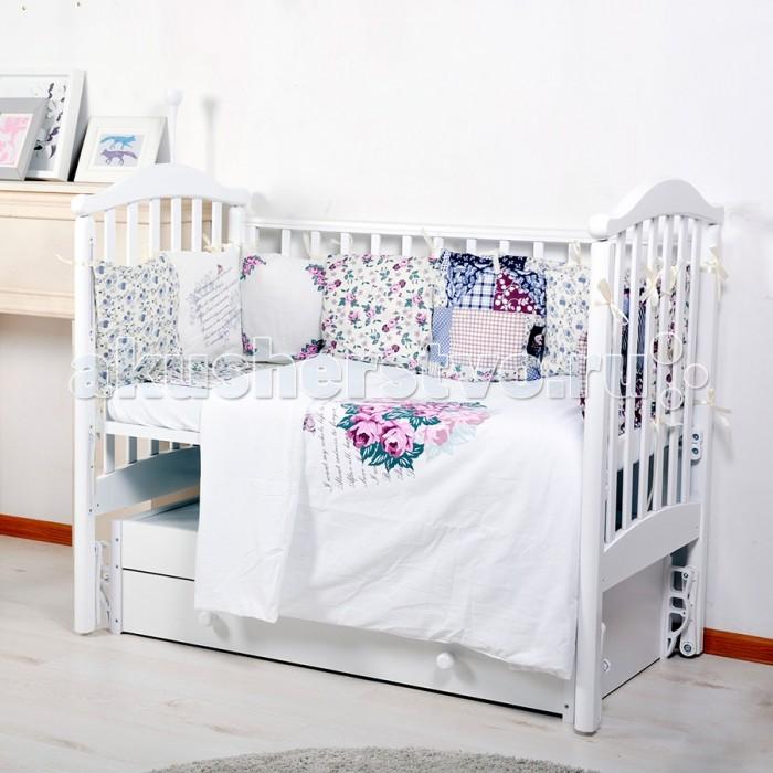 Комплекты в кроватку BamBola Универсальный для стандартной и овальной кроватки 6 предметов