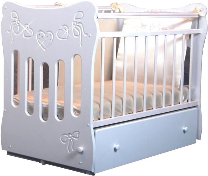 Детская кроватка Островок уюта Бантики маятник поперечный