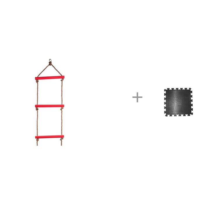 Kett-Up Лесенка веревочная и Коврик резиновый Barbell