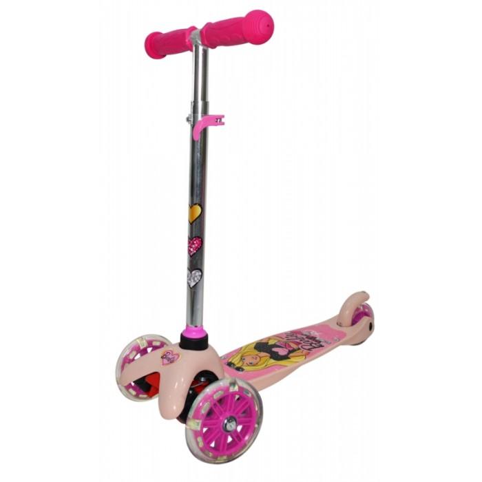 Купить Трехколесные самокаты, Трехколесный самокат Barbie со светящимися колесами