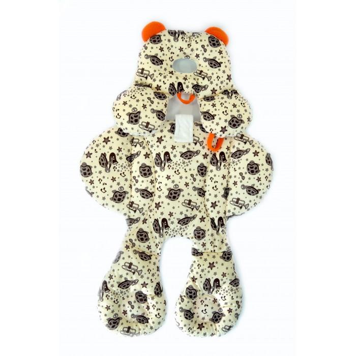 Барлео Матрасик-вкладыш в автокресло Panda Hugs ЧерепашкиАксессуары для автокресел<br>Барлео Матрасик-вкладыш в автокресло Panda Hugs Черепашки  Матрас выгодно отличается тем, что при создании этой вещи используется гипоаллергенные материалы и пена, предотвращающая потение малыша. Такой матрасик нежно обнимает малыша, принимает форму его тела и поддерживает оптимальное положение его тела за счет чего достигается максимальный комфорт.  Матрас можно использовать зимой и летом за счет двусторонней ткани: одна сторона выполнена из специального плюшевого материала, уютного для холодной погоды, а вторая – из более легкого летнего материала. В нижнюю часть вкладышей встроены погремушки, которые приводятся в действие ножками ребенка и смогут его развлечь.  Такое изделие можно стелить в кроватку, автокресло, коляску или на шезлонг. Подголовник с держателем для пустышки можно отстегивать и использовать отдельно. Матрас легко стирать в машинке.