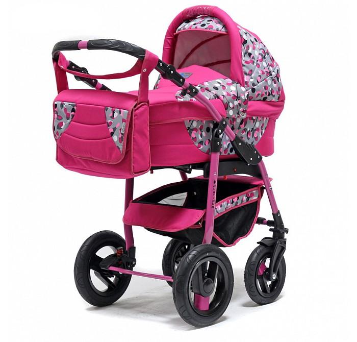 Коляска Bart-Plast Platinum PKLO 2 в 1Platinum PKLO 2 в 1Универсальная детская коляска Platinum 2в1 от Польского производителя BartPlast предназначена для детей с рождения и до 3-х лет. В комплект коляски входит спальная люлька для новорожденного и прогулочный блок для подросшего малыша, которые можно устанавливать по ходу движения или против хода движения. Люлька коляски комфортная и удобная, сделана внутри из 100 % хлопка. Дно люльки – жесткое, это очень важно для правильного формирования позвоночника новорожденного малыша. Прогулочное сидение легко устанавливается на раму, имеет пятиточечные ремни безопасности, съемный бампер, регулируемое положение спинки. Для удобства родителей предусмотрены регулировка высоты ручки, корзина для покупок и сумка для мамы.  Колеса надувные, камерные, с современной системой амортизации. Передние поворотные колеса с фиксатором делают эту модель коляски маневренной и легкоуправляемой. Задние колеса, обеспечивают хорошую проходимость и позволяют преодолевать любые препятствия по бездорожью на прогуле. Ширина колесной базы позволяет с легкостью входить в стандартные лифты и двери, что не вызовет трудностей с транспортировкой коляски.  Яркая расцветка коляски – порадует родителей и малыша. Рама коляски цветная – это выглядит эффектно!  Люлька: • Тканевая люлька с жестким дном • Регулируемый по высоте подголовник • Удобная ручка для переноски, расположенная на капюшоне • Бесшумный механизм регулировки капюшона • Внутренняя вкладка выполнена из 100% хлопка, легко снимается для стирки • Матрасик для новорожденного • Возможность установки люльки в 2 положениях (лицом к маме, или лицом по направлению движения коляски)  Размеры внутренние люльки: длина 76 см. ширина 35 см. высота 20 см. Вес: 4.53 кг.  Прогулочный блок: • Три положения регулировки спинки, в том числе до горизонтального • Регулируемая подножка • Регулируемый капюшон • Пятиточечные ремни безопасности с мягкими плечевыми накладками • Съемный бампер • Практичная накидка на ножки 