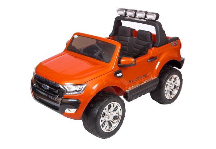 Электромобиль Barty Ford Ranger F650 Полный приводFord Ranger F650 Полный приводЭлектромобиль Barty Ford Ranger F650 Полный привод - полноприводный двухместный электромобиль.  Особенности: задние и передние амортизаторы открываются двери, багажник и капот колёса EVA (каучук) чехол сиденья выполнен из экокожи пятиточечный ремень безопасности заводится с ключа  пульт управления Bluetooth (2,4 G) FM-радио, USB вход, MP3, вход для карты SD  ручка-чемодан для перевозки 2 аккумулятора: 12V/7А  редуктор: 45W х 4 3 скорости движения вперёд: от 1 до 8 км/ч + плавный разгон + система блокировки режимов  1 скорость движения назад: до 3 км/ч Максимальная нагрузка - 45 кг. Время беспрерывной работы: до 2 часов. Время заряда батарей: от 8 до 10 часов.<br>