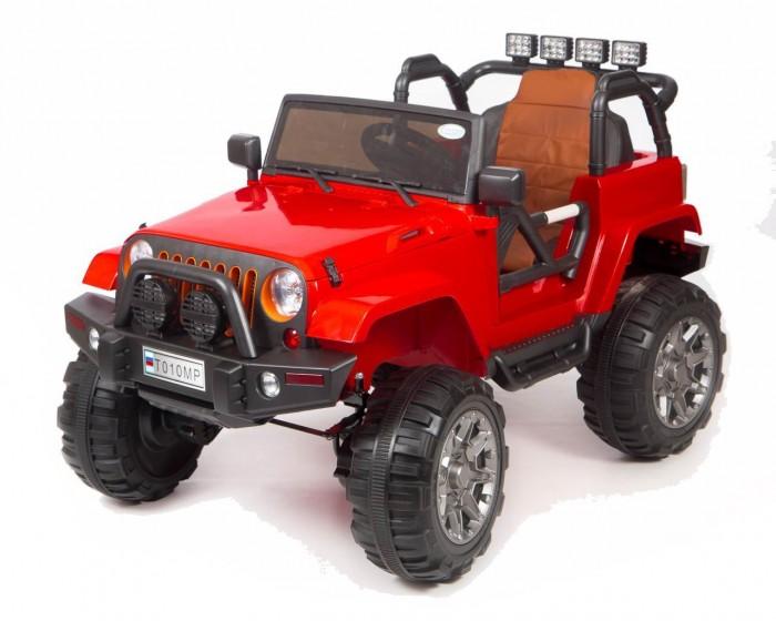 Электромобиль Barty Т010МРТ010МРЭлектромобиль Barty Т010МР  Электромобиль Barty Т010МР создан специально для современных детей, которые привыкли к чему-то особенному и комфортному. Красивый дизайн электромобиля не может не радовать взрослых и малышей, которые уже обладают данным детским электромобилем, а также тех, кто только думает его приобрести для своего юного автомобилиста.  Детский электромобиль Barty Т010МР полностью оправдает Ваши ожидания и Вы оцените данную модель при первом же использовании.  Полный привод 4WD.                           Колёса EVA (каучук) с подшипниками. Открываются двери.                             Ремень безопасности. Сиденье чехол эко-кожа.                           Зажигание кнопка. Аккумулятор 12V10AH.                     Двигатели 45Wх4. Пульт управления Bluetooth (2.4 G) USB вход, MP3, вход для карты SD. Амортизаторы на все колёса.                                             Ручка-чемодан для перевозки.<br>