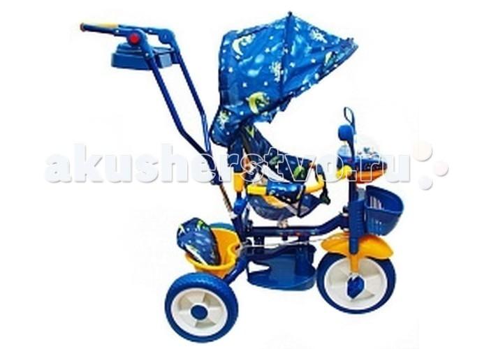 Велосипед трехколесный Barty 2851 ВС2851 ВСДетский трёхколёсный велосипед Barty 2851 BC  3-колесный велосипед находка для заботливого родителя! Он совмещает в себе как функции коляски, так и первого обучающего транспорта.   Имеется специальная управляющая регулируемая ручка колясочного типа, две корзины для того, чтобы вещи первой необходимости находились всегда под рукой, а удобное сидение и пластиковые колеса позволяют безопасно использовать велосипед.   Музыкальная панель не даст скучать Вашему крохе.  Широкий тент защитит от дождя и солнца.  Дуга безопасности, не даст выпасть Вашему малышу.  Внимание!Расцветка может отличатся от представленной на фото!<br>