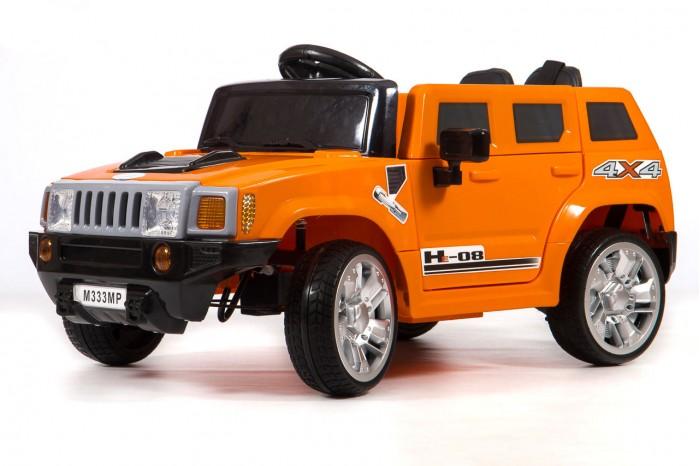 Электромобиль Barty Hummer М333МРHummer М333МРЭлектромобиль Barty Hummer М333МР создан специально для современных детей, которые привыкли к чему-то особенному и комфортному. Красивый дизайн электромобиля не может не радовать взрослых и малышей, которые уже обладают данным детским электромобилем, а также тех, кто только думает его приобрести для своего юного автомобилиста.   Детский электромобиль Hummer М333МР полностью оправдает Ваши ожидания и Вы оцените данную модель при первом же использовании. Газ и тормоз совмещены в одной педали: при нажатии машина едет, а при отпускании, останавливается.  Особенности: Двери открываются                                              Колёса EVA (каучук) Поверхность обычный Сиденье, чехол эко-кожа                Ремни безопасности 5-ти точечные                         Зажигание кнопка Аккумулятор 6V4,5 AHх2                      Двигатели 25Wх2 Пульт управления Bluetooth (2,4 G) USB вход, MP3, вход для карты SD Амортизаторы на четыре колеса<br>