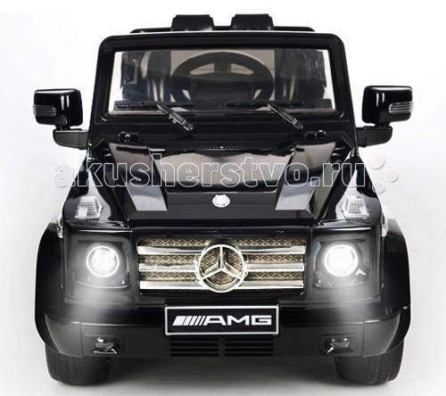 Электромобиль Barty Mersedes Benz G55 AMGMersedes Benz G55 AMGДетский электромобиль Barty Mersedes AMG G556: на встречу приключениям! Ну какой мальчик не мечтает о собственном Мерседесе? Порадовать маленького гонщика поможет электромобиль Barty Mersedes AMG G55, который является копией полноценной марки автомобилей. Конструкция функциональная и вызывает неизменный восторг у ребятишек во всем мире.  Особенности: Машина выполнена из качественных прочных материалов: корпус – из ударопрочного пластика, подвижные элементы механизма – из металла Barty Mersedes AMG G55 двухместный, подходит для детей от 3 до 7 лет Сидения очень удобные, есть специальные подголовники – все как у машин премиум-класса Едет машина при нажатии на педаль Переключение скорости осуществляется на передней панели Barty Mersedes AMG G55 электромобиль снабжен зеркалами заднего вида Большие колеса обеспечивают хорошую проходимость машине Аккумулятор заряжается от сети Имеется разъем (вход) для МР3 плеер Скорость езды электромобиля Barty Mersedes AMG G55 достигает солидных 5 км/час Аккумулятор типа 12V 7Ah (герметичный) Для подстраховки и безопасности ребенка есть дистанционный пульт управления, чтобы в случае необходимости родители смогли помочь с управлением автомобиля  Размер 128x66x36 см Вес 19.5 кг В комплекте : аккумулятор, зарядное устройство, пульт дистанционного управления.<br>