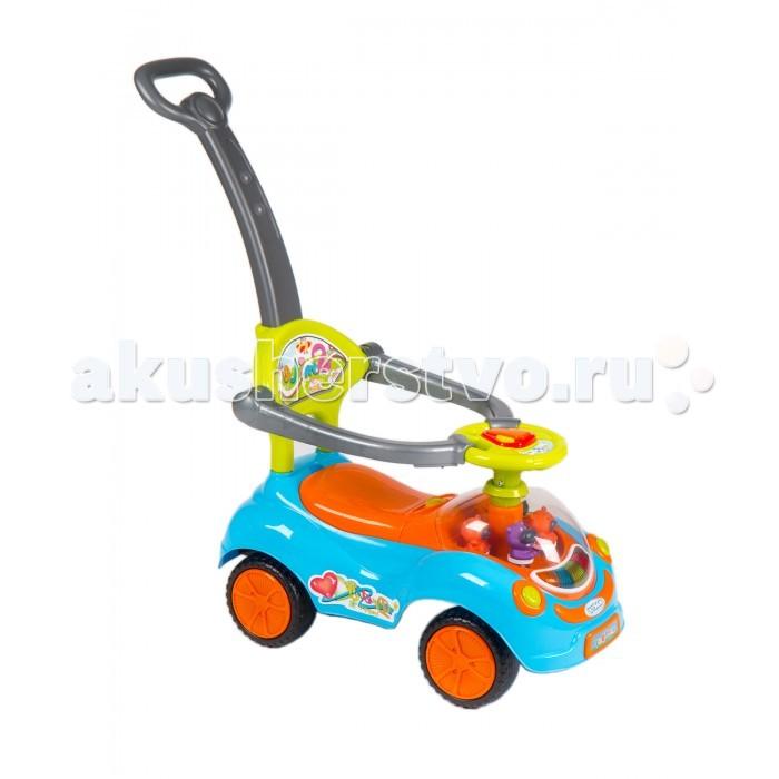 Каталка Barty Q07-3Q07-3Каталка Barty Q07-3  Каталка для детей Barty Q07-3: подходит для детей от 1 до 3-х лет  корпус выполнен из ударопрочного пластика музыкальный руль (большая кнопка - сигнал; маленькие кнопочки - 4 мелодии) съемная подножка съемная ручка-толкатель защитный бампер (съемный) удобное, широкое сиденье с высокой спинкой небольшой отсек для игрушек под сидением передние колеса поворачиваются на 360 градусов легко двигается вперед и назад<br>