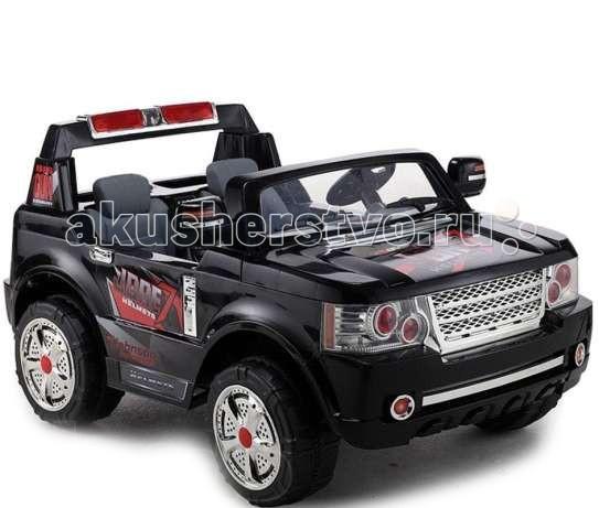 Электромобиль Barty Range Rover JJ 205Range Rover JJ 205Полноценный двух местный электромобиль Barty Rover JJ 205. Эта модель позволит двум детям получить неизгладимое впечатление от поездки. Общая нагрузка не должна превышать 50 кг. Большие и широкие колёса обеспечивают безопасность и устойчивость при движении по паркам и скверам. У электромобиля есть пульт дистанционного управления для родителей, вход для МР3 плеера, звуковые и световые эффекты которые скрасят поездку малышам.   Характеристики:  2 аккумулятора (2х12V/7AH)  Со звуковыми и световыми эффектами. Развивает скорость до 6 км/ч. Максимально допустимая нагрузка - 50 кг. Зеркала заднего вида. 2 мотора (2x35W). Два посадочных места. Резиновые накладки на колеса. Фары горят, сигнал на руле.  Размер 140x82x42 см Вес 29 кг В комплекте : аккумулятор, зарядное устройство, пульт дистанционного управления.<br>