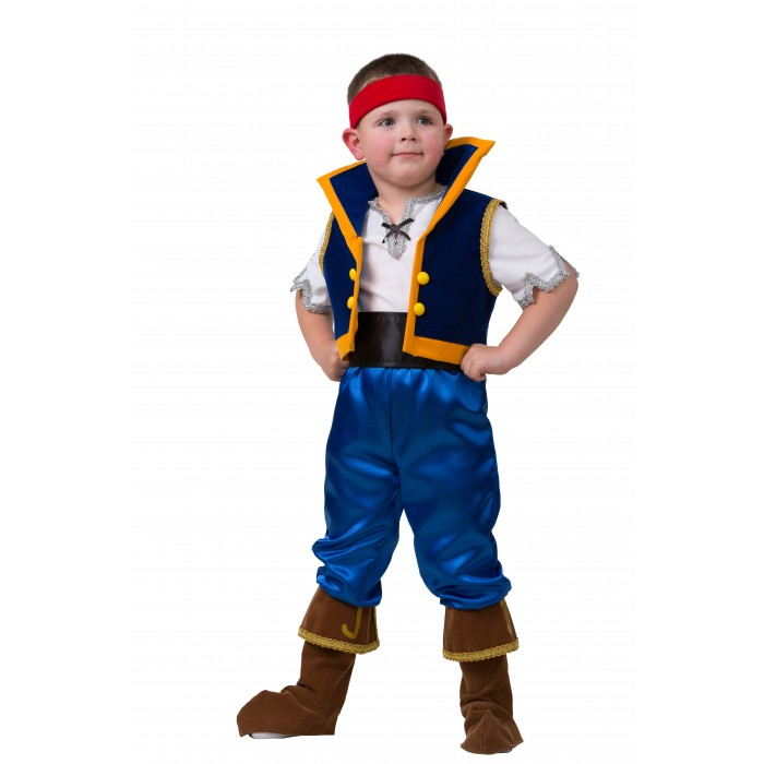 Карнавальные костюмы Батик Карнавальный костюм Джейк Пираты Дисней 7031 инерционная игрушка для ванны fisher price джейк и пираты нетландии х1219 b0662