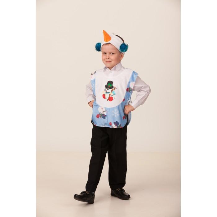 Карнавальные костюмы Батик Карнавальный костюм Снеговичок Веселые зверята 2235