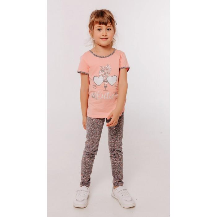 Комплекты детской одежды Batik Комплект для девочки (футболка, брюки) batik футболка для девочки batik голубой 128