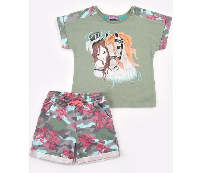 Комплекты детской одежды Batik Комплект для девочки (футболка, шорты) 0071 batik футболка для девочки batik голубой 128