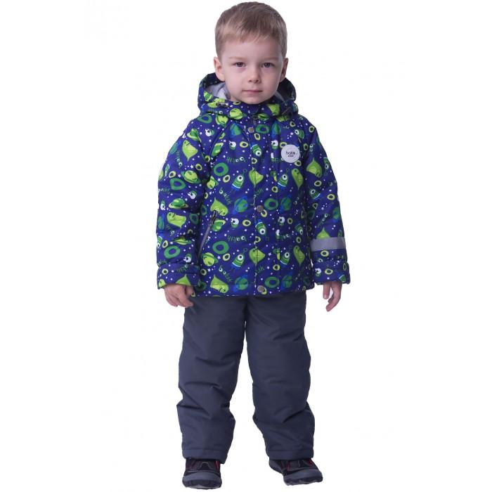 Батик Комплект для мальчика ТимошаДемисезонные комбинезоны и комплекты<br>Батик Комплект для мальчика Тимоша – настоящий космос! Состоящий из куртки и полукомбинезона комплект является демисезонным и имеет утеплитель.  Комплект удобен в носке, так как состоит из двух независящих друг от друга предметов. Куртка имеет интересный для мальчика принт с космической тематикой, который подчеркнет увлечения ребенка и хороший вкус его родителей. Полукомбинезон нейтрального практичного цвета можно носить отдельно от куртки.   Комплект неприхотлив в уходе, грязь с него легко оттереть или смыть, не повредив форму и цвет всей вещи. В общем, в таком комплекте хоть космос покорять!  Особенности Капюшон с утяжкой на эластичный шнур с фиксатором Светоотражающие вставки на куртке и брюках для безопасности в темное время Боковые карманы на молниях Ветрозащитная планка на кнопках поверх центральной молнии Эластичная резинка в зоне талии Съемные регулируемые лямки на полукомбинезоне Полукомбинезон также имеет застежку на молнию и резинку в зоне пояса Характеристики: Ткань верха: Taslan Oxford Ткань подклада: Jersey Утеплитель: слайтекс 100 гр Температурный режим: до -7 градусов Уход: ручная или автоматическая стирка до 40 градусов не отбеливать без отжима гладить при средней температуре до 110 градусов