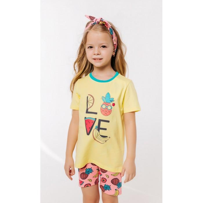 Комплекты детской одежды Batik Костюм для девочки (футболка, шорты) 01128_BAT batik футболка для девочки batik голубой 128