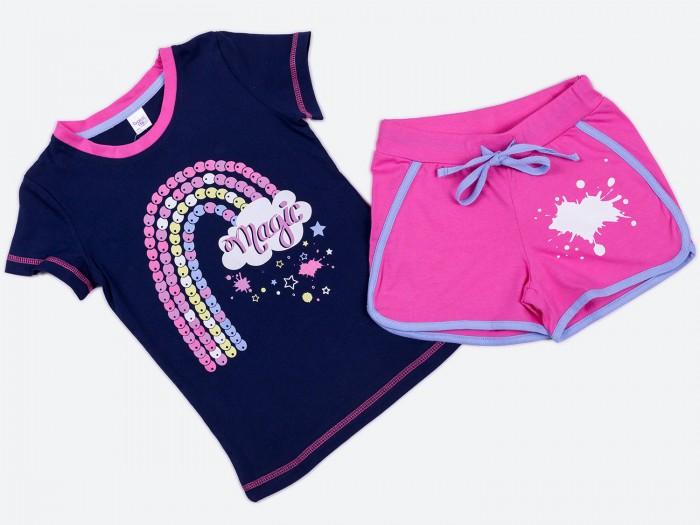 Комплекты детской одежды Batik Костюм для девочки (футболка, шорты) 01162_BAT batik футболка для девочки batik голубой 128