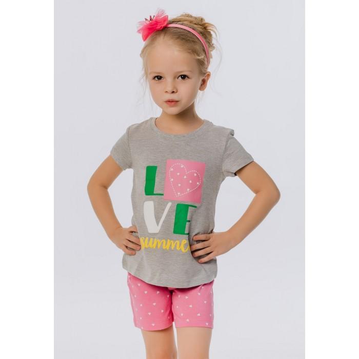 Комплекты детской одежды Batik Костюм для девочки (футболка, шорты) batik футболка для девочки batik голубой 128