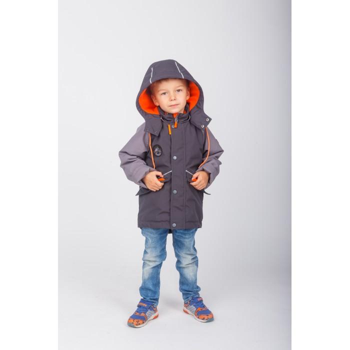 Батик Крутка для мальчика МатвейКуртки, пальто, пуховики<br>Батик Куртка для мальчика Матвей интересная и стильная модель с капюшоном и застежкой на молнию. Выполненная из технологичной прочной мембраны, которая по внешнему виду напоминает натуральный материал и крайне приятная на ощупь.   Куртка имеет эргономичный крой, регулируется по низу.   Особенности: Регулируемый капюшон с застежкой на кнопки Ветрозащитный пластрон на кнопках Светоотражающие детали и декоративные нашивки Боковые карманы с клапанами на магнитах Рукава оснащены бретелями «свободные руки», с помощью которых можно их удобно закатать Регулировочные паты в манжетах рукавов