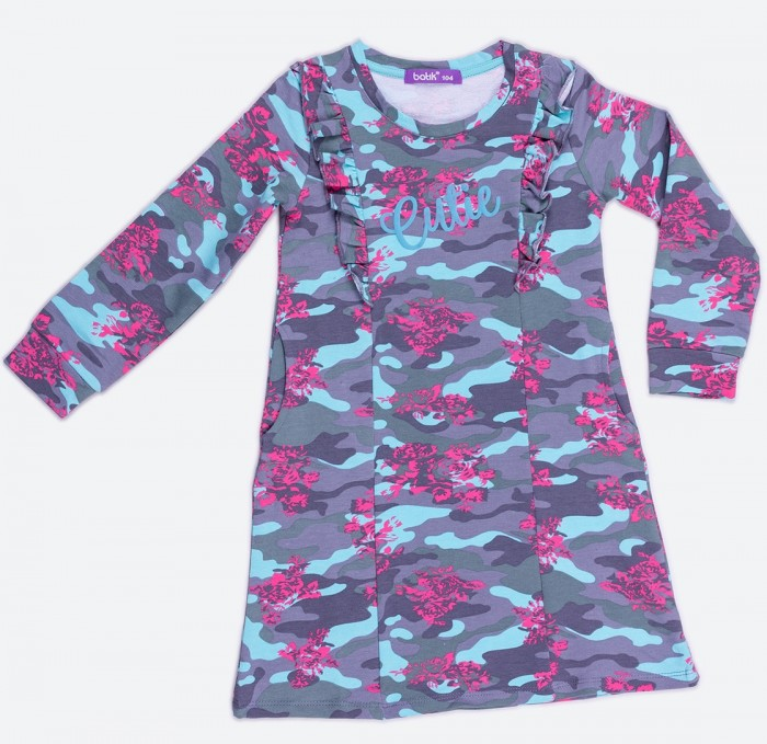 Платья и сарафаны Batik Платье с длинным рукавом для девочки 0070