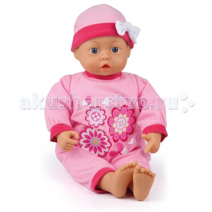 Bayer Малыш - мои первые слова 46 см 94664Малыш - мои первые слова 46 см 94664Bayer Design Малыш - мои первые слова 46 см 94664   Интерактивная кукла 46 см, 24 функции (звука).   Если нажать на животик куклы, она издает 24 разных звука младенца.   Малыш одет в современный комбинезон с подходящей по цвету шапочкой.   Бутылочка и соска входят в комплект.   Упакована в красивую коробку.<br>