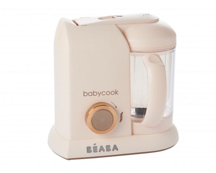 Beaba Блендер-пароварка Babycook SoloБлендер-пароварка Babycook SoloКомпактная пароварка-блендер Вeaba предназначена для собственноручного приготовления питательных детских смесей. Идеально подойдет для родителей, которые хотят достоверно знать, какие именно компоненты входят в питание их малыша. С этим кухонным прибором процесс приготовления становится максимально легким и быстрым, так как прибор сочетает в себе сразу 4 функции: приготовление на пару с сохранением витаминов; функции блендера, с возможностью регулировки степени измельчения; быстрые подогрев и разморозку. Блендер-пароварка легко моется и занимает мало места на кухне.  Особенности продукта: 4 функции: приготовление на пару, измельчение продуктов, подогревание и размораживание продуктов. Большая емкость: 1100 мл (со шкалой измерений) Время приготовления приблизительно 15 минут. Открытие и закрытие крышки с одной стороны благодаря легкой системе клип Сохраняет витамины и питательные вещества Автоматическое выключение функции Звуковой сигнал в конце цикла приготовления Экран с подсветкой Удаление накипи индикатор Съемный кабель для удобного хранения В комплект входит: Книга рецептов (созданные диетологами для детей от 6 до 24 месяцев, 12 рецептов на русском языке), нож для измельчения, лопатка, паровая корзина для приготовления/разогревания продуктов, крышка чаши блендера с фильтром для фруктовых коктейлей. Официальная гарантия: 2 года  Размеры высота х длина х ширина 27.5 x 19 x 25 см Кувшин 1100 мл<br>
