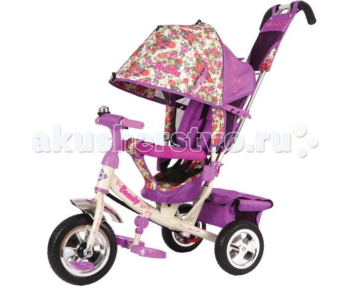 Велосипед трехколесный Beauty B2 (колеса ПВХ)B2 (колеса ПВХ)Велосипед трехколесный Beauty B2 (колеса ПВХ) обеспечит комфорт и удовольствие для вашего малыша во время прогулки.  Такой универсальный детский транспорт позволяет ребенку как ездить самостоятельно, так и кататься под контролем взрослого. При самостоятельном передвижении ребенок будет приводить велосипед в движение при помощи педалей и управлять им рулем. Если же велосипед выполняет функцию прогулочной коляски, взрослый сможет толкать его перед собой при помощи специальной ручки, которая также служит и для управления.  Особенности: колеса ПВХ (прорезиненные); высокая наклонная спинка: 3 положения; объемный капюшон со смотровым окошком (3 положения); ручка управления передним колесом; стальная тяга; тормоза на задних колесах; трусики-безопасности; 5-ти точечные ремешки безопасности; разъемная мягкая дуга; складные подножки; корзина с твердым дном; сумочка на ручке; звонок на руле.<br>