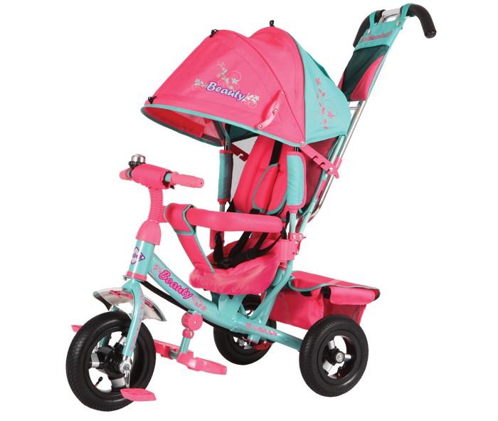 Велосипед трехколесный Beauty BA2 (надувные колёса)BA2 (надувные колёса)Велосипед трехколесный Beauty BA2 (надувные колёса) обеспечит комфорт и удовольствие для вашего малыша во время прогулки.  Такой универсальный детский транспорт позволяет ребенку как ездить самостоятельно, так и кататься под контролем взрослого. При самостоятельном передвижении ребенок будет приводить велосипед в движение при помощи педалей и управлять им рулем. Если же велосипед выполняет функцию прогулочной коляски, взрослый сможет толкать его перед собой при помощи специальной ручки, которая также служит и для управления.  Особенности: надувные колёса; высокая наклонная спинка: 3 положения; объемный капюшон со смотровым окошком (3 положения); ручка управления передним колесом; стальная тяга; тормоза на задних колесах; трусики-безопасности; 5-ти точечные ремешки безопасности; разъемная мягкая дуга; складные подножки; корзина с твердым дном; сумочка на ручке; звонок на руле.<br>