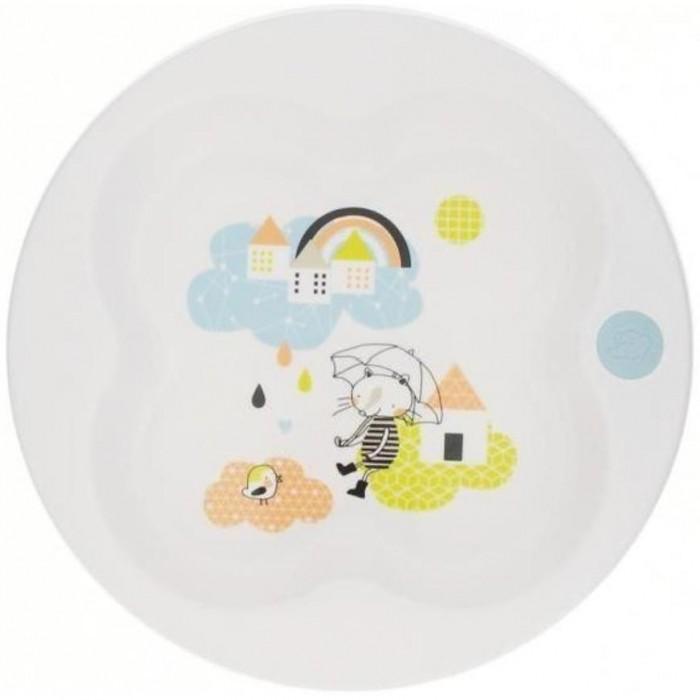 Посуда Bebe Confort Тарелка Клевер герметичная с крышкой Under The Rainbow тарелка bebe confort 6 18 мес с крышкой зеленая 31000304