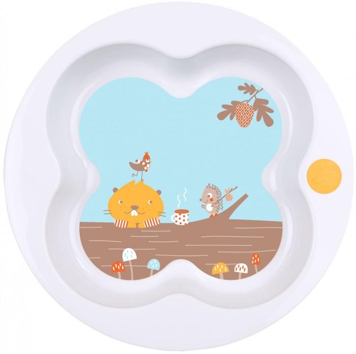 Посуда Bebe Confort Тарелка Woodcamp в форме клевера посуда bebe confort прозрачный стаканчик