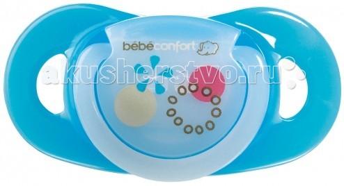 Пустышки Bebe Confort Physio Dummiies латексная с кольцом 6-18 мес. 2 шт. bebe confort комплект из 2 х сосок из латекса для бутылочек с широким горлышком сильный поток