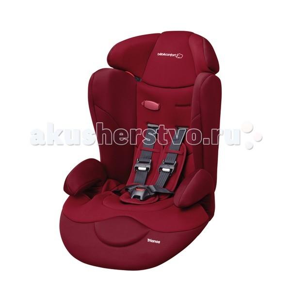 Автокресло Bebe Confort TrianosTrianosУниверсальное автокресло Trianos Safe Side. Группа 1/2/3 (от 9 до 36 кг.).  Особенности:  Автокресло рекомендуется для детей от 1 до 10 лет.   Боковая защита Safe Side. 5-ти точечный ремень безопасности крепко удержит малыша в автокресле.   Для первой группы: кресло крепится штатным ремнем автомобиля, ребенка пристегиваете внутренними ремнями.   Для второй группы: внутренние ремни снимаются и ребенок пристегивается вместе с креслом штатными автомобильными ремнями.   Для третьей группы: при желании вы можете отстегнуть спинку кресла, а можете этого не делать.   Ребенок крепится также штатными ремнями безопасности.   Глубокое комфортабельное сиденье с подголовником и подлокотником.   Спинка имеет 2 положения наклона.   Спинка сиденья отстегивается и автокресло становится сиденьем для малышей 3 группы.   Автокресло имеет силовой каркас из ударопрочного пластика.  Надежно пристегнутый штатным ремнем автомобиля, ребенок путешествует в полной безопасности.  Варианты использования автокресла для разных возрастов:   1) Для группы 1 (9-18 кг) от 1 и примерно до 4 лет - Закрепите автокресло штатным ремнем автомобиля по красным точкам, затем, усадив ребенка, пристегните его внутренними ремнями.   2) Для группы 2 (15-25 кг) от 4 и примерно до 10 лет - С 4-х лет - без внутренних ремней, ребенок пристегивается только штатным ремнем автомобиля.   3) Для группы 3 (22-36 кг) с 6-ти лет   При необходимости вы можете снять спинку автокресла, оставив только сиденье.  Характеристики коротко:  Мягкий, обьемный подголовник.  Внутренние 5-точные ремни безопасности, регулируемые по росту ребенка.  Удобные подлокотики поддержтвают тело ребенка, обеспечивая комфорт.  Широкое сиденье и комфортная обивка.  Два регулятора натяжения ремней.  SAFE SIDE Система усиленной боковой защиты.  Два положения спинки кресла.  Силовой каркас из ударопрочного пластика.  Вес 4,4 кг.<br>