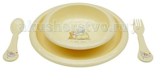 Посуда Bebe Jou Комплект посуды для кормления накладки для пеленания bebe jou чехол х б для пеленальника 6800 72х44