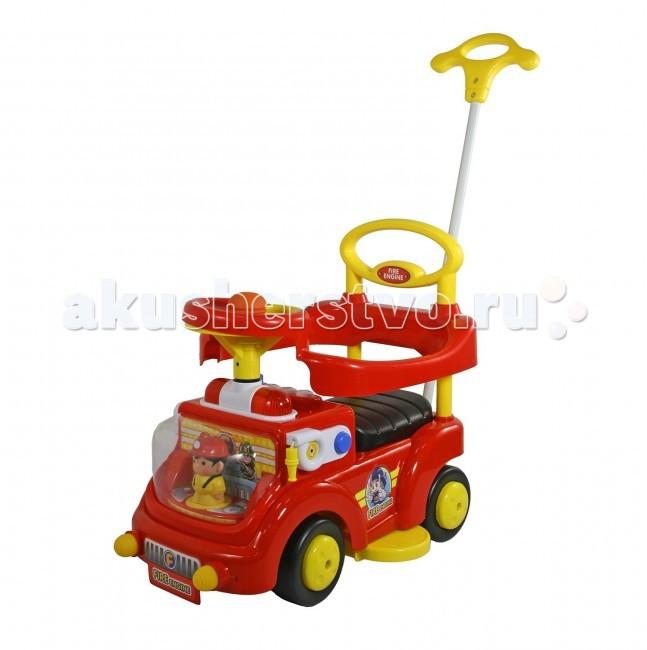 Каталка Bebe Planete Fire EngineFire EngineИгрушка – каталка Fire Engine для детей от 1 года.   Защитные бамперы спереди, сзади, и по бокам каталки.  Игрушка Пожарник - за рулем!  Есть другая удобная ручка позади сиденья, которая служит еще и опорой для спинки ребенка.  Поворотный руль с музыкальной кнопкой.   Изготовлена из специальной усиленной пластмассы.<br>