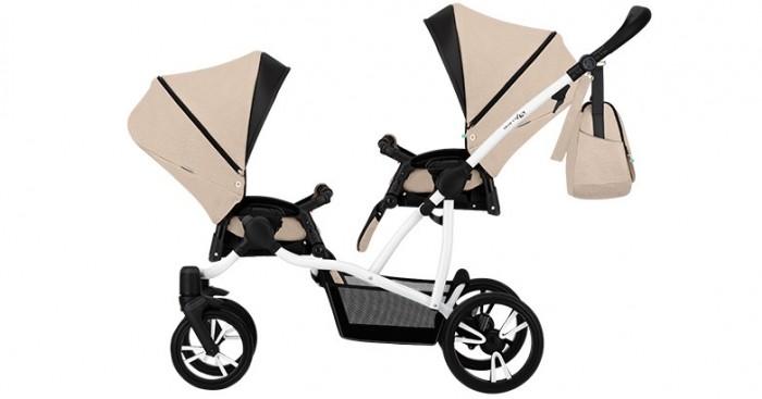 Купить Коляски для двойни и погодок, Bebetto Прогулочная коляска 42 Sport Сomfort для двойни Белая рама