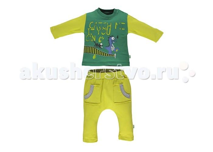 Детская одежда , Комплекты детской одежды Bebetto Комплект для мальчика (кофта и брюки) Dinosaur K 1600 арт: 396639 -  Комплекты детской одежды