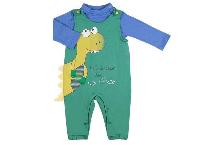 Детская одежда , Комплекты детской одежды Bebetto Комплект для мальчика (водолазка и комбинезон) Dinosaur K 1603 арт: 396579 -  Комплекты детской одежды