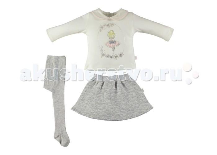 Комплекты детской одежды Bebetto Комплект (кофта, юбка и колготы) Ballerina для девочки