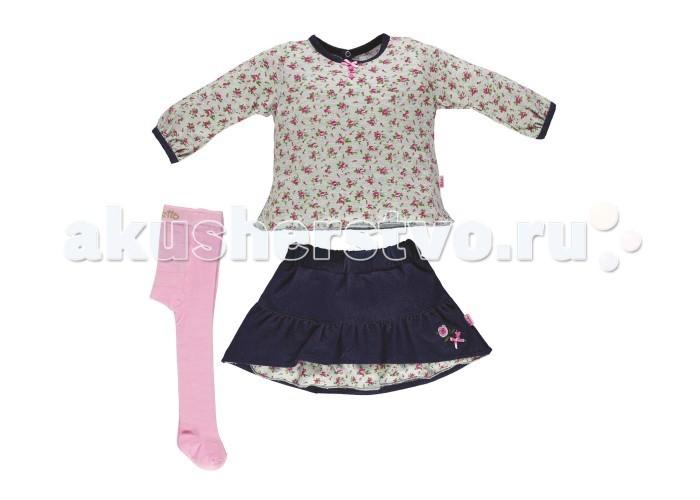 Детская одежда , Комплекты детской одежды Bebetto Комплект (кофта, юбка и колготы) Best Friend для девочки арт: 354700 -  Комплекты детской одежды