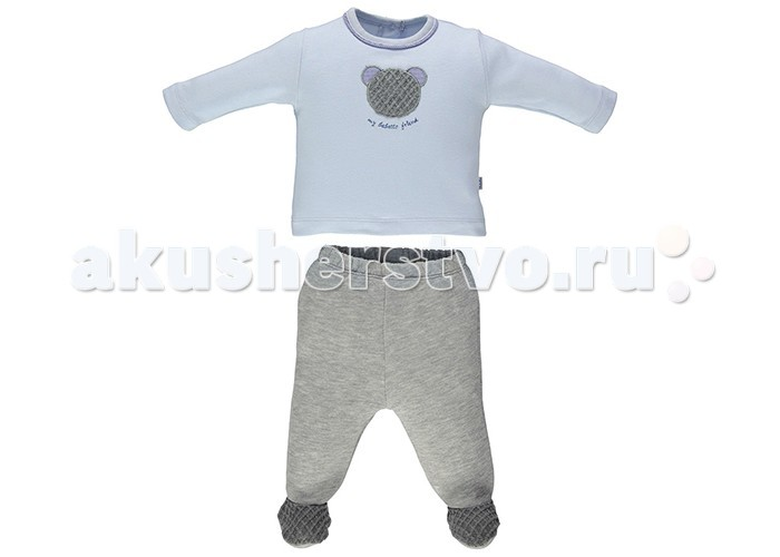 Детская одежда , Комплекты детской одежды Bebetto Комплект (кофточка и ползунки) Mу Bebetto для мальчика арт: 353880 -  Комплекты детской одежды