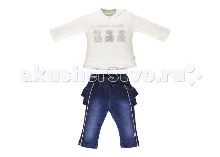 Детская одежда , Комплекты детской одежды Bebetto Комплект (лонгслив и джинсы) Boutique Girl для девочки арт: 354665 -  Комплекты детской одежды
